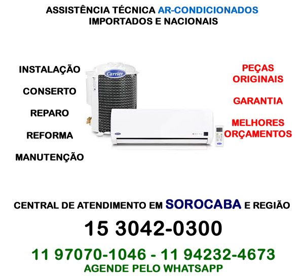 Assistência técnica ar-condicionado Sorocaba