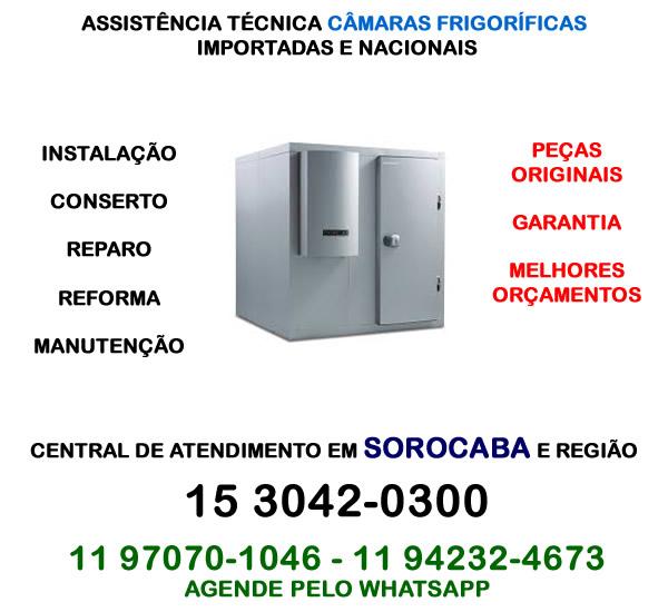 Assistência técnica câmara frigorífica Sorocaba