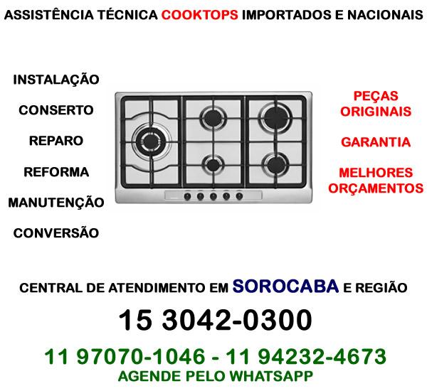 Assistência técnica cooktop Sorocaba