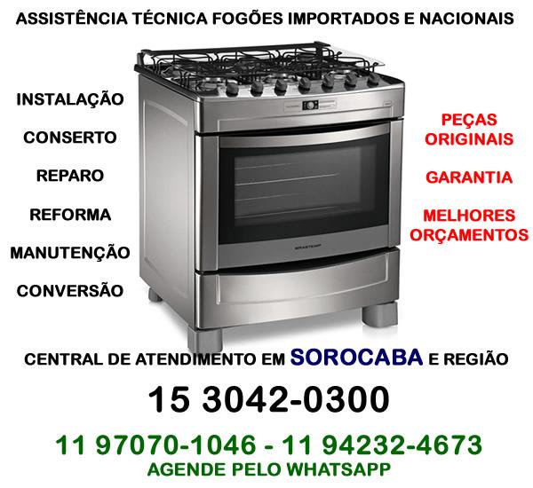 Assistência técnica fogão Sorocaba